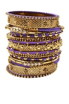 Any of you going with purple? these are cool      Reema Bangle Set on HauteLook