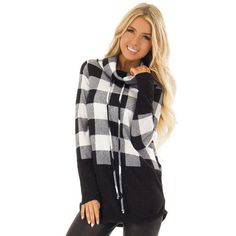 418c338f06 Livn Simply Womens Dipped Plaid Lightweight Top