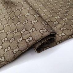 Designer Inspired Jacquard Fabric Khaki Monogram Fabric by the Gucci Fabric, Brocade Fabric, Jacquard Fabric, Fabric Design, Print Design, Gucci Fashion, Womens Fashion, Cool Fabric, Diy Clothing