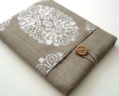 Ethnic style iPad Case with Pocket in Silver Printed by Covercraft, $29.50