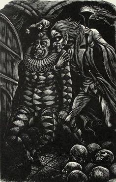 Fritz Eichenberg. The Cask of Amantillado. From <u>The Tales Of Edgar Allan Poe</u>, <br>Wood engraving, 1944. Sheet: 10-5/8 x 7-3/8 inches. 30521