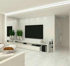 Likes, 21 Comments - Deco Garden-Design Home Living Room, Interior Design Living Room, Living Room Decor, Tv Wall Design, Design Case, Living Room Tv Unit Designs, Modern Tv Wall Units, Small Room Bedroom, Home Decor