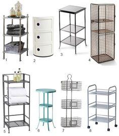 small bathroom storage solutions | High & Low: 3-Tier Bathroom Storage