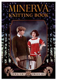 Minerva Knitting Book (10) c.1922 - Sportswear Patterns for Men and Women