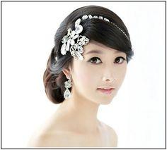 short hair hair chain accessory wedding - Google Search