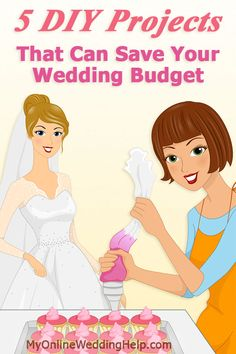 Wedding DIY Ideas: Ways to save money and stay within your wedding budget...bouquets, photo albums, favors, invitations, and other wedding paper.