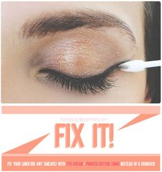 Tutorial: Easy Fix of Eye Liner Mistakes - Click the image for the Tutorial!