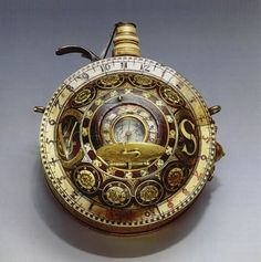 Sundial and compass flask