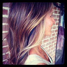Peekaboo hair color..