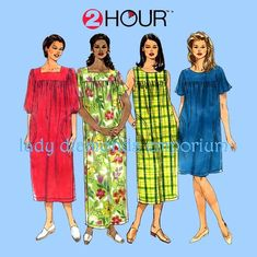 f0860a48a93e Simplicity 7676 Womens Plus Size 2 Hour Pullover Dress Housedress Duster  Robe Muumuu 18W 20W 22W 24W Sewing Pattern Uncut FF