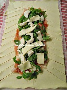 Cucinanostress : TRECCIA DI PASTA SFOGLIA SALATA ripiena