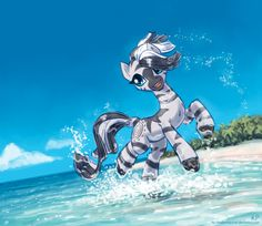 Zecora at the beach by *KP-ShadowSquirrel on deviantART My Little Pony 1, Little Poney, My Little Pony Pictures, My Little Pony Friendship, Some Beautiful Pictures, Beautiful Artwork, Mlp Fan Art, Imagenes My Little Pony, Mlp Pony