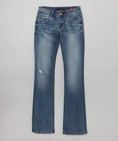 Take a look at this Cult of Individuality Crew Vixen Whiskered Curvy Bootcut Jeans on zulily today!