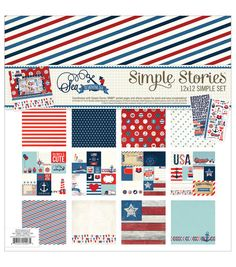 """Simple Stories Simple Sets Collection Kit 12""""X12""""-Sea To Shining Sea - excellent for custom photo mats..."""
