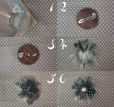 DIY Hair Accessories DIY Hair Pins DIY Upcycle a Vintage Earring Into a Feather Hair Clip DIY Barrettes