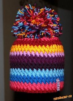 Nový zajímavý vzoreček na koolicha :-)ušený popis vzorečku.:-)<br><br>Je to ce. Crochet Cap, Crochet Beanie, Knitting Patterns, Sewing Patterns, Crochet Patterns, Yarn Crafts, Craft Fairs, Crochet Clothes, Baby Knitting