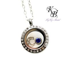 Flower Girl Necklace, Personalized Flower Girl Gift, Floating Locket, Flower Girl Gifts, Birthstone Necklace, Little Girl Jewelry | KyKy's Bridal, Handmade Bridal Jewelry, Wedding Jewelry