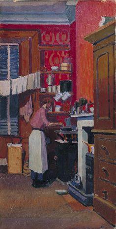 Spencer Gore, 'The Gas Cooker' 1913 (The Camden Town Group in Context) Mary Cassatt, Post Impressionism, Art Uk, Art Themes, Kitchen Art, Kitchen Sink, Vintage Kitchen, Henri Matisse, Renoir