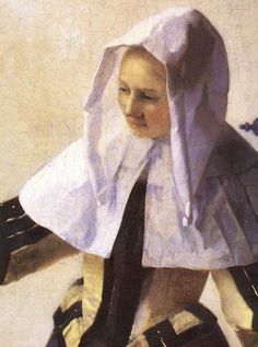 Johannes Vermeer (1632–1675) Title Young Woman with a Water Jug (detail) between 1660 and 1662 oil on canvas