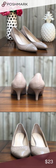 👠 Franco Sarto Nude Heels, 7.5M 👠 🎀 These simple, yet fashionable heels are perfect for church, a wedding, or any business casual outfit! They are leather/man made upper, 2 inch heel, and have only been worn a couple times. There are small scuff marks in the tip and heel and some small blemishes on the interior. Overall, very good condition! 🚢Ships next day! 🎀 Franco Sarto Shoes Heels