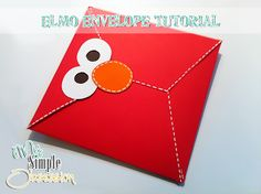My Simple Obsession: Elmo Envelope Tutorial