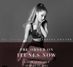 """go pre-order """"my everything & break free"""" on iTunes!"""