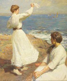 Harold Harvey (1874-1941) British- Out to Sea,
