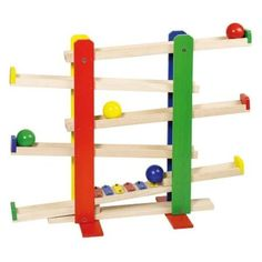 Marble run with xylophone Wooden Puzzles, Wooden Toys, Kids Indoor Gym, Wooden Marble Run, Marble Runs, Sensory Lights, Special Needs Toys, Marble Ball, Wood Owls