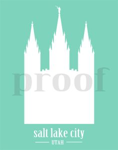 easiest christmas gift ever just print and frame salt lake city lds temple silhouette