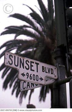 Sunset blvd in California