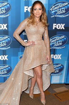 Stealing the show: It was only appropriate judge Jennifer Lopez shone brightest at the Ame...