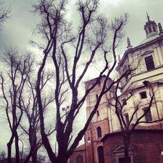 A church  #milano #italy #milan #trees #church #chiesa #italia