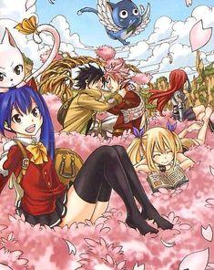 Carla, Wendy, Lucy, Natsu, Gray, Happy, Erza -Fairy Tail