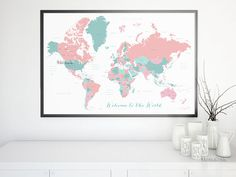 30x20 printable world map countries names us by blursbyaishop 30x20 printable world map with countries names us states canada provinces gumiabroncs Images