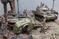 T-34対4号戦車ジオラマ