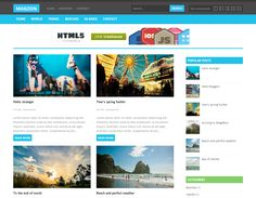 This flat Blogger template includes a responsive layout, custom ...