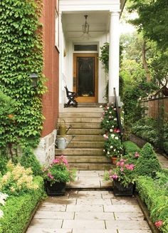 Charming City Entrance--smaller plants for those more narrow walkways.