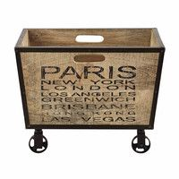 Cassetta a rotelle in mango 38 x 50 cm London Kids, Decoration Entree, Ikea, Wood Crates, Cool Rooms, Toy Chest, Storage Chest, Home Accessories, Projects To Try