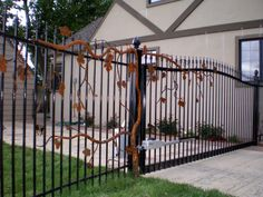 16 Awesome Gate Style That You Would Like to Copy Stainless Steel Fabrication, Iron Garden Gates, Granite Bay, Twisted Metal, Gate Design, Grape Vines, Interior And Exterior, Awesome, Outdoor Decor