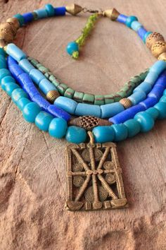 handmade african jewelry | ... brass beads and brass pendant - Bohemian jewelry & African jewelry