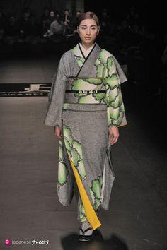 kimononagoya:  You generally don't see an Obi match the Kimono so exactly (like……