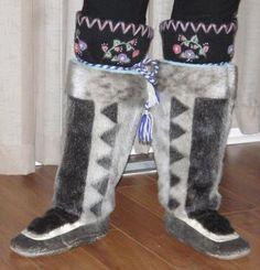 Inuit made women's kamiks via Dorothy Nastapoka