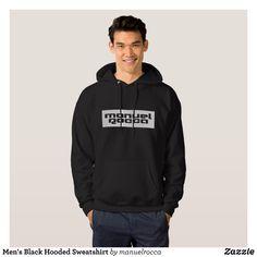 Men's Black Hooded Sweatshirt - Stylish Comfortable And Warm Hooded Sweatshirts By Talented Fashion & Graphic Designers - #sweatshirts #hoodies #mensfashion #apparel #shopping #bargain #sale #outfit #stylish #cool #graphicdesign #trendy #fashion #design #fashiondesign #designer #fashiondesigner #style