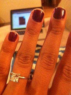 A realistic expectation of an engagement ring :) 1 caret, gorgeous, simple, affordable. Love it. :)