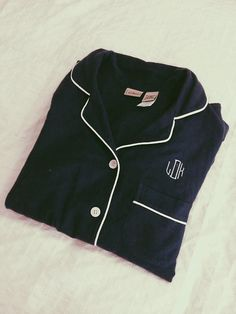 pearlsandprep:  Absolutely in love with my monogrammed pajamas