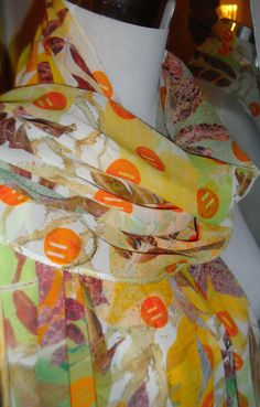 Ash leaf hand printed scarf by WildeNature on Etsy