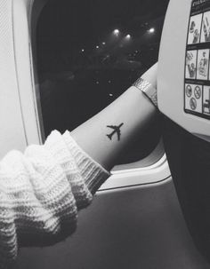 Can't wait to become a flight attendant so I can have an excuse to get a new tattoo like this one ✈️ wanderlust