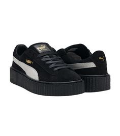 PUMA WOMENS SUEDE CREEPERS Black