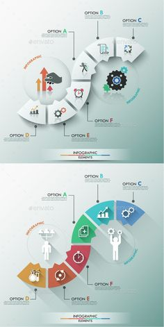 Buy Modern Infographic Process Template Items) by Andrew_Kras on GraphicRiver. Modern infographic process template with rounded paper trapezoids and icons for 6 steps (options). Process Infographic, Infographic Powerpoint, Infographic Templates, Creative Infographic, Design Web, Layout Design, Logo Design, Neck Design, Design Ideas