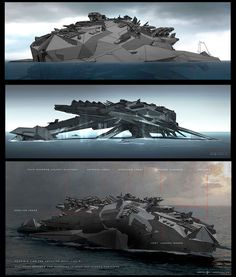 Concept Arts do filme Battleship, por George Hull | THECAB - The Concept Art Blog